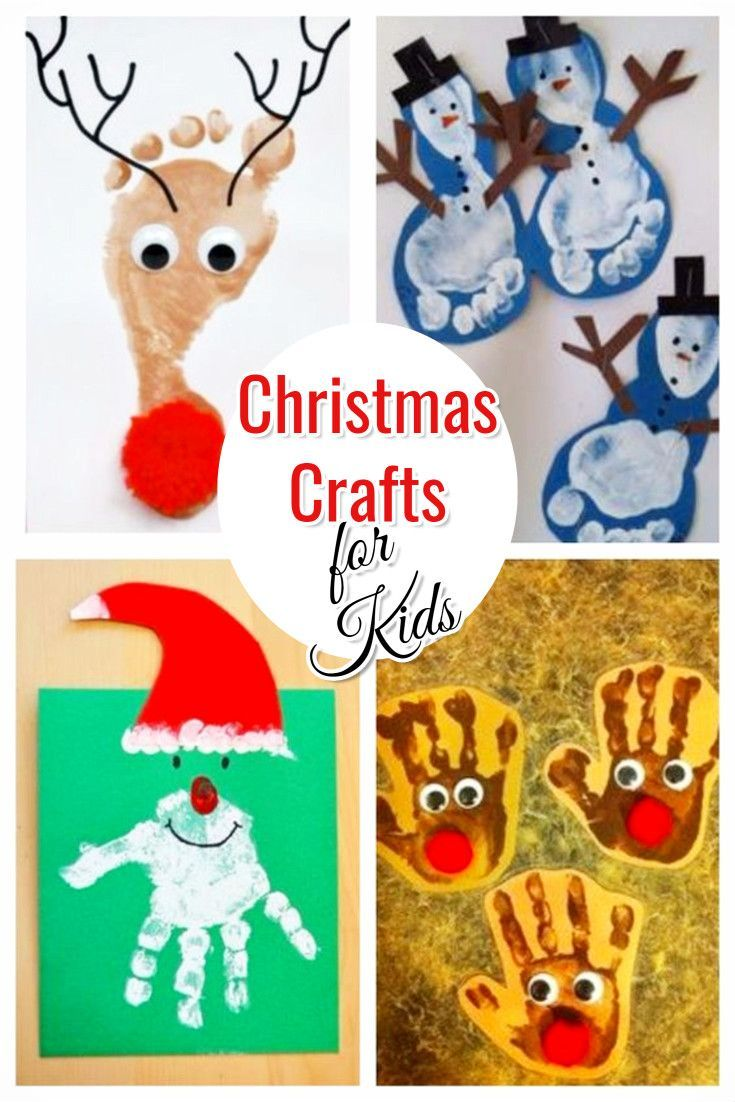 Christmas Crafts for Kids • Handprint (and footprint) art ideas for Christmas #christmas #christmascrafts #kids #involverynew