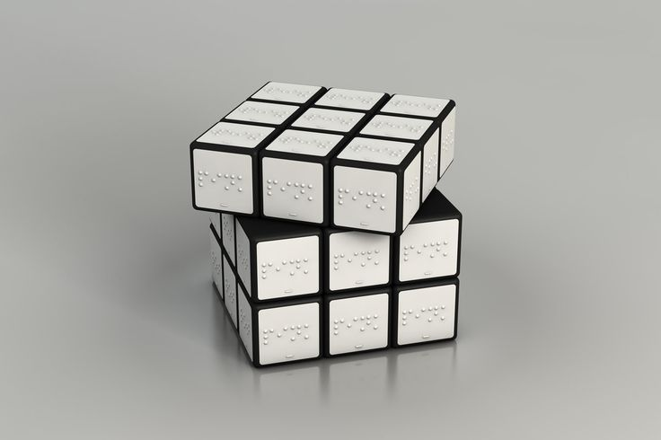 Rubik's Cube for the Blind (2010)  Konstantin Datz (German, born 1988)