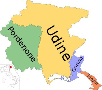 Provinces of Friuli–Venezia Giulia - Pordenone, Udine, Gorizia, Trieste