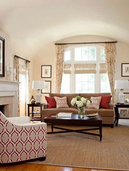 25 best images about red accent living room on pinterest - Neutral colors to paint a living room ...
