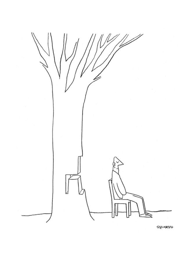 New Yorker Cartoon Premium Giclee Print by Saul Steinberg at Art.com