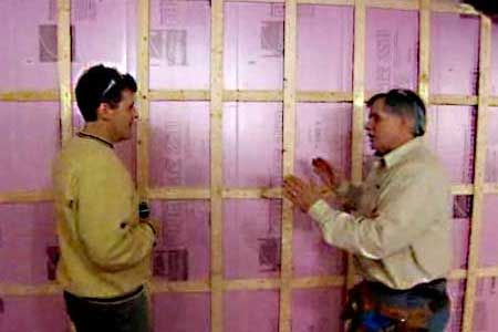 contractor tom silva shows how to fur out concrete basement walls