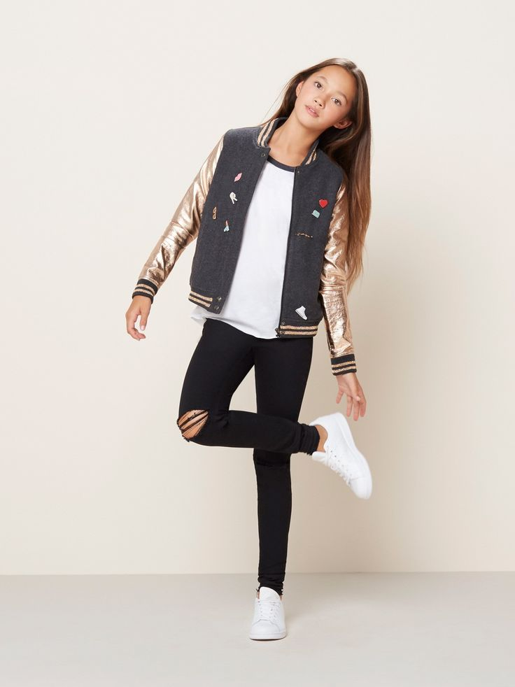 Girl Fashion Magazine: ROSE GOLD VARSITY BOMBER JACKET