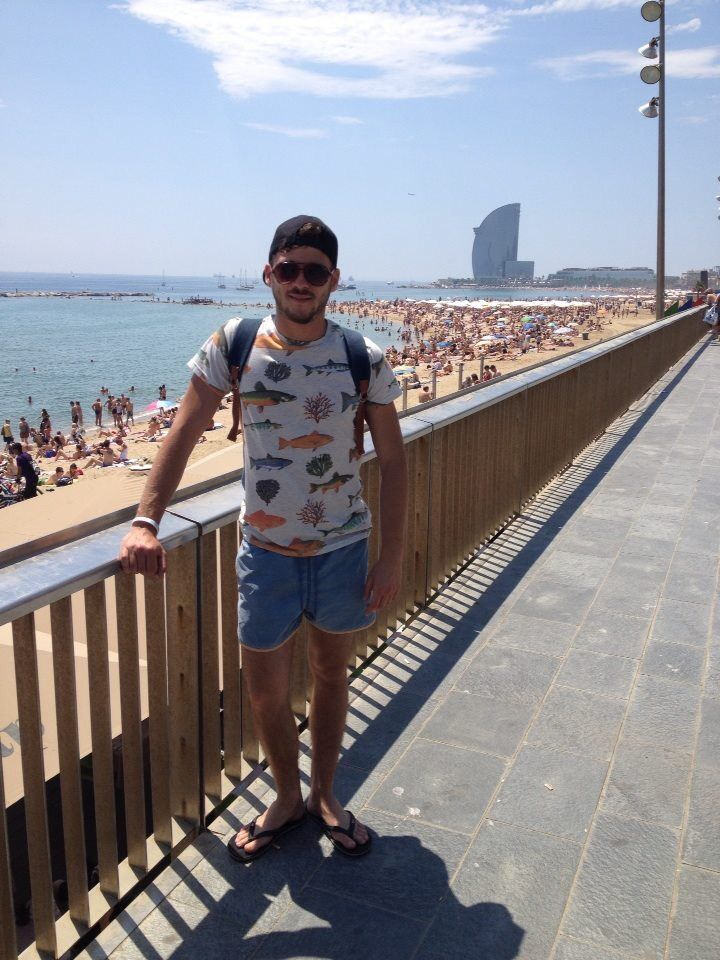 Beachtime in the sunny Barcelona