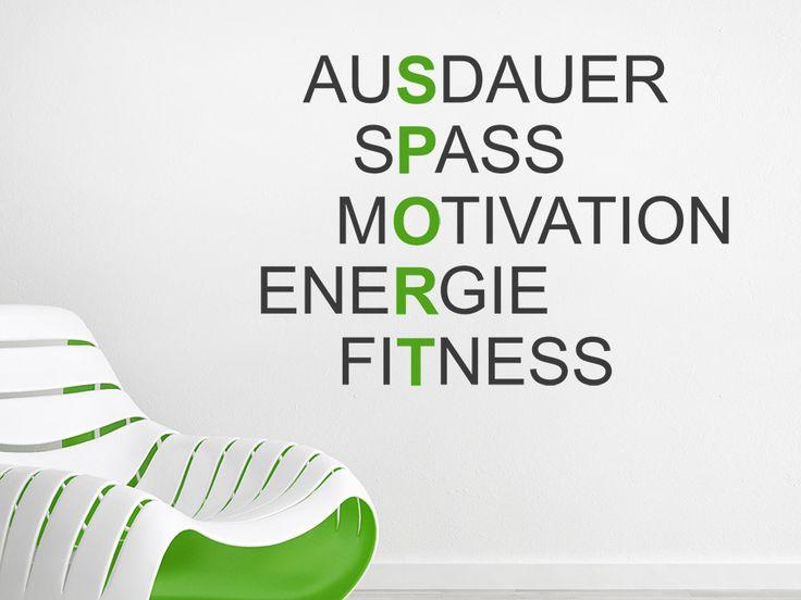 Elegant Wandtattoo Sport Motivation als mehrfarbiges Wand Highlight f r alle Sporthelden Sport Fitness