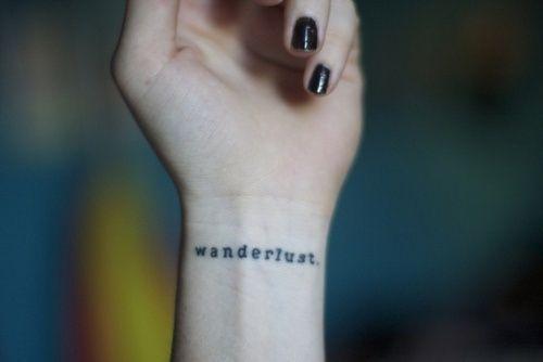 wanderlust wrist tattoo