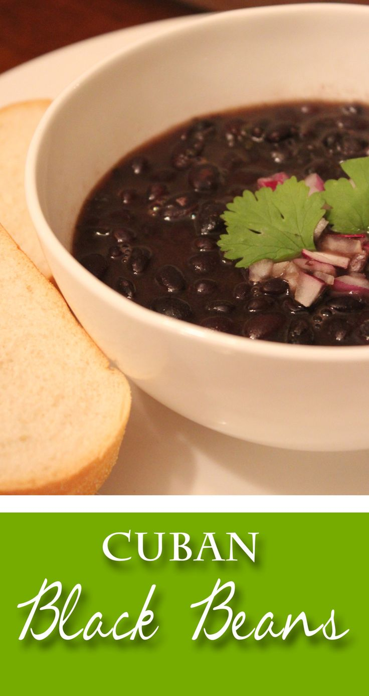 Authentic Cuban Black Beans. I prefer this recipe without adding sugar, and subbing the white vinegar with red wine vinegar.