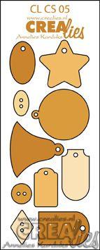 Crealies Creative Shapes no. 5 (stans - die - Stanzschablone - pochoir) www.crealies.nl