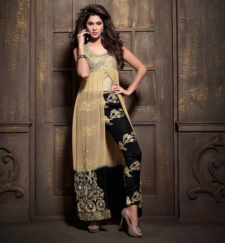 Maisha Salwar Kameez With Tight Embroidered Pant #msh2109