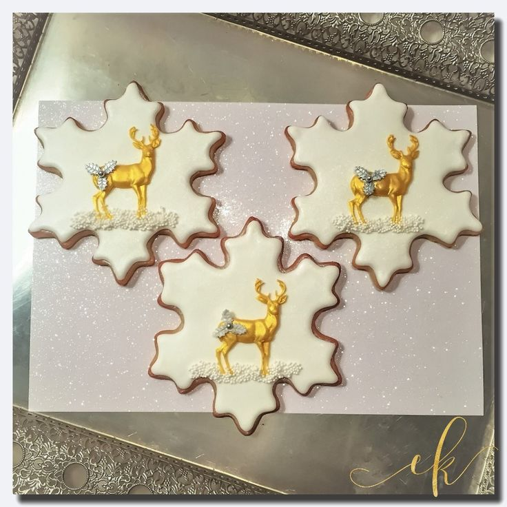 Christmas Cookies dressed with royal icing and a gorgeous reindeer!