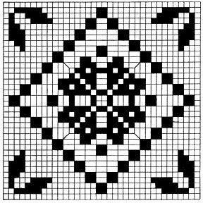 Filet Tablecloth Pattern chart