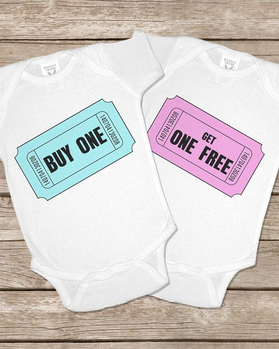 001 - Buy Get One Two Free Twinsie Set Onesie Twin Twins Onesies Baby Gifts Set Matching Outfits Girls Boys Shirt