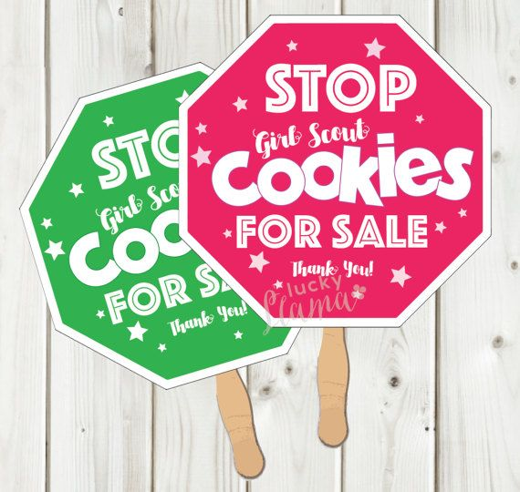 Girl Scout Cookie Stop Sign Printable - Instant Download
