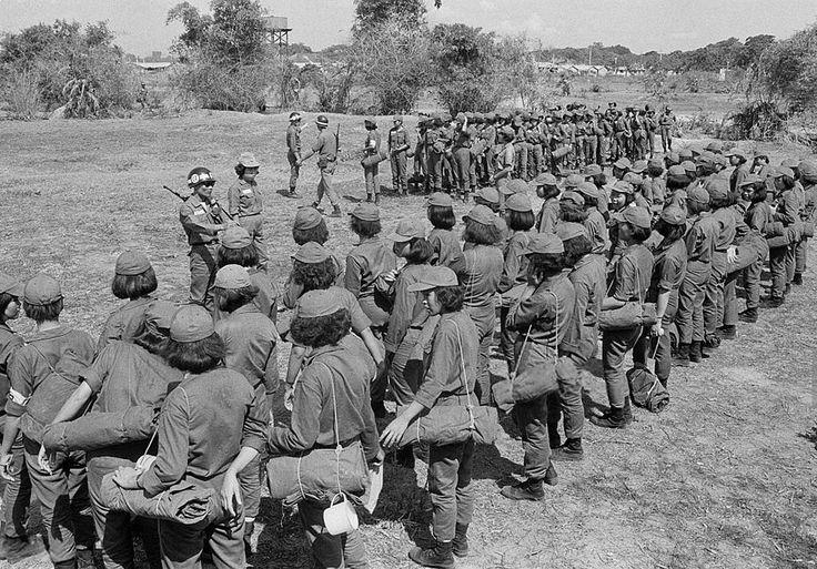 Vietnam War 1968 - Vietnamese Military Training Camp for Women