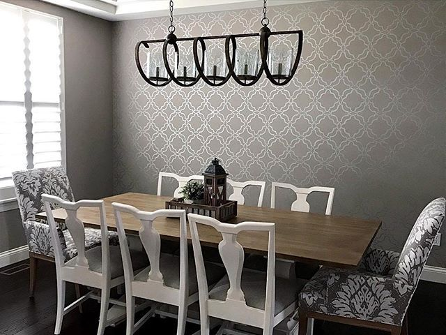 997 best Stenciled Accent Walls images on Pinterest Wall