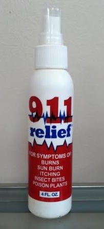 911 Relief Spray - for symptoms of burns, sunburn, itching, insect bites, poison plants, etc.