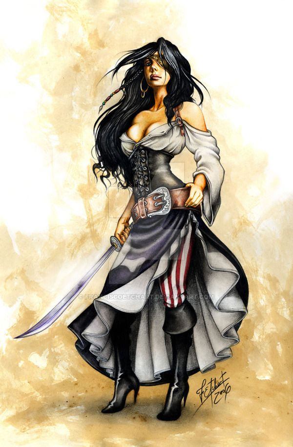 Pirate Girl_Commission by FranciscoETCHART on DeviantArt - That's my avatar that I've bought from the artist.