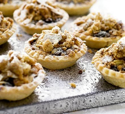 Yes you can make GF mince pies! Crumble-topped mince pies | BBC Good Food #glutenfree #coeliac #christmas