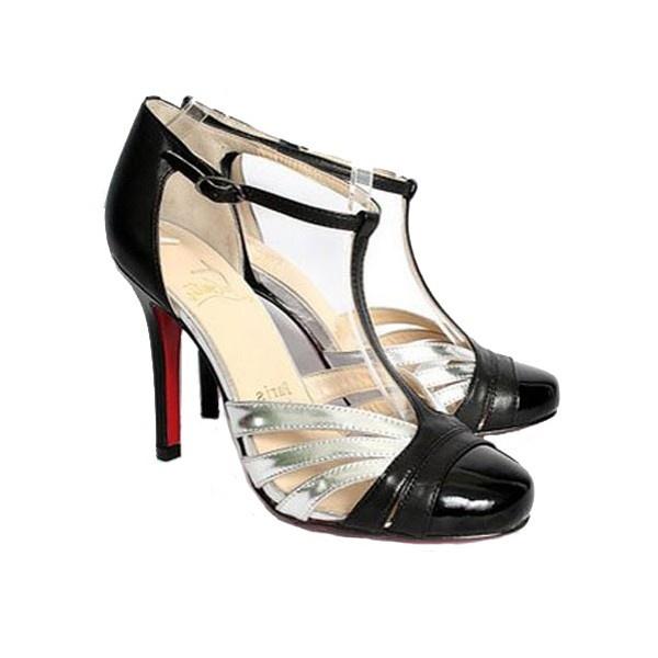 silver christian louboutin shoes