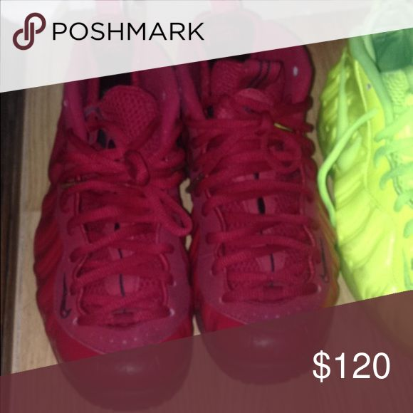 Red FOAMS Slightly worn sneakers Nike Shoes Athletic Shoes