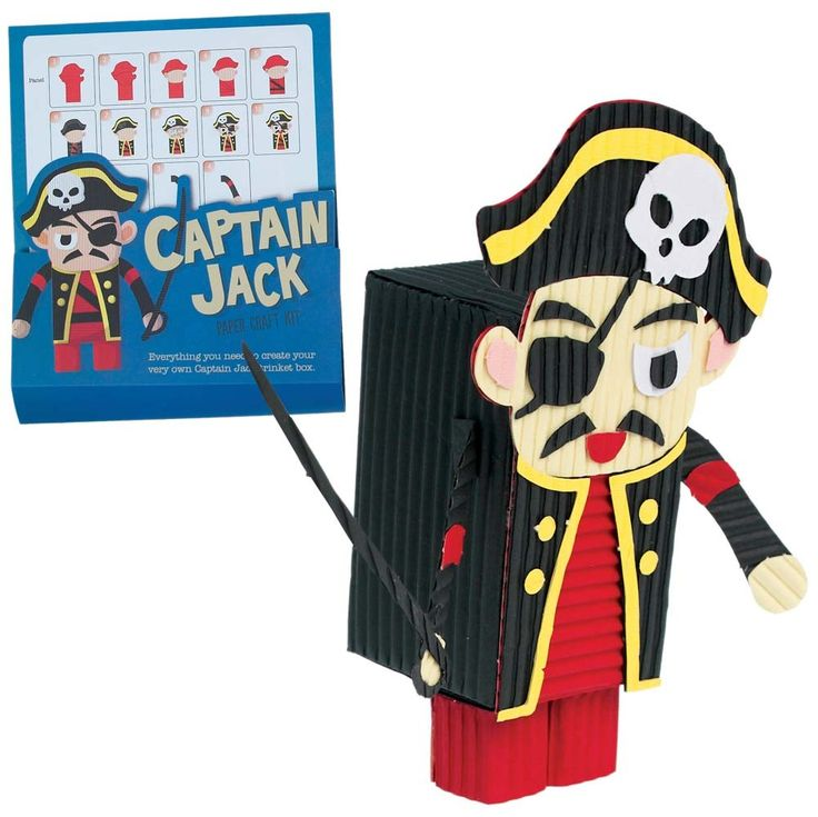 Captain Jack paper craft kit, everything you need to create your very own pirate trinket box. £2.99