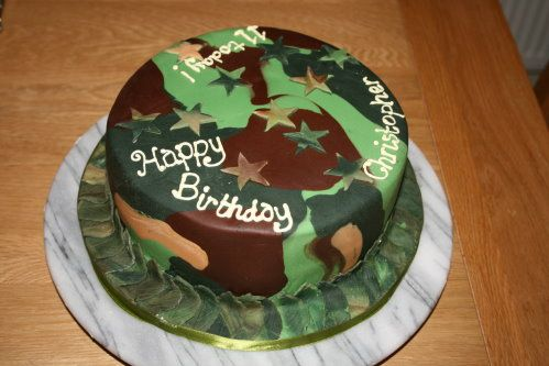 Army Camouflage Cake - Christopher's 11th Birthday Cake