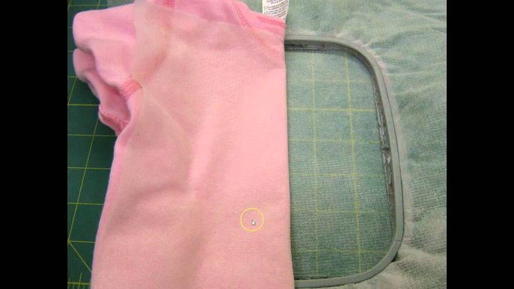 How to embroider a baby onesie, via YouTube.