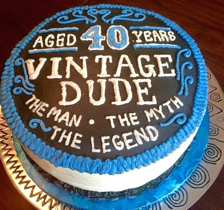 40th Birthday Cake Ideas For Husband Image Result Men Party