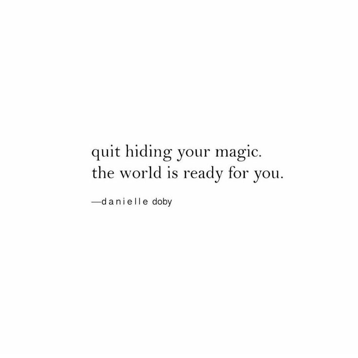 DON'T HOLD BACK // this is the perfect quote for staring this new year. Share your magic. (RG @thebodybook)