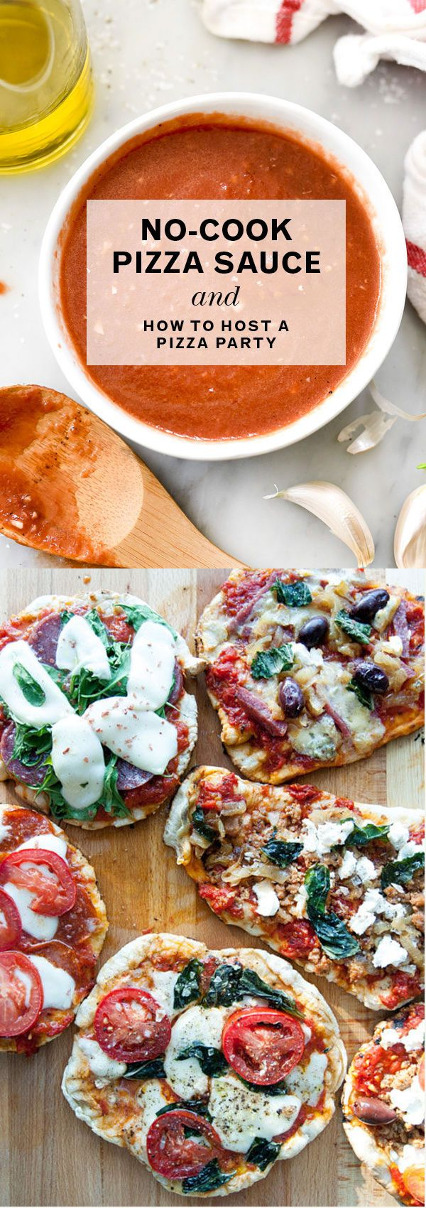 4-Ingredient, No-Cook Pizza Sauce makes throwing a pizza party easy