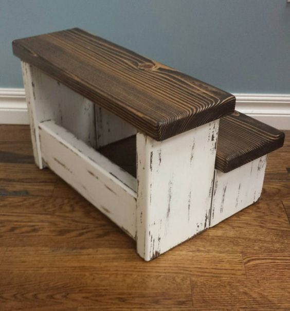 Farmhouse Step Stool Stools Wood Projects And Woods