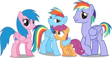 rainbow dash's family