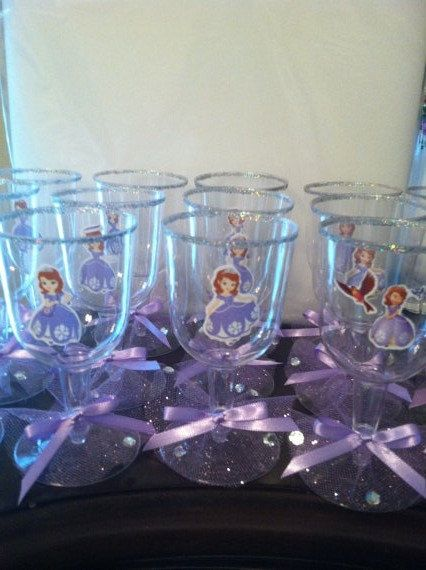 Sofia the First Princess Party GOBLETS Cups/ Decorations/ party cups/ princess party/ disposable cups/ party favors on Etsy, $20.00