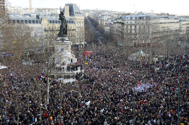 La place de la République à Paris, le 11 janvier 2015