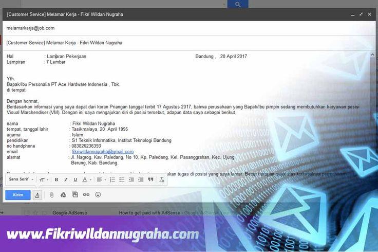 Cara Mengirim Lamaran CV Lewat Email Mudah Diterima Kerja contoh kirim surat melamar lowongan kerja melalui hp android  PC Komputer via gmail yang baik dan benar perusahaan subject judul body ukuran format lampiran attachment