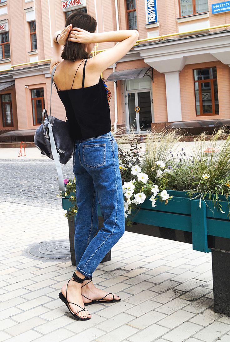 Мам-джинсы образ