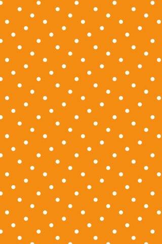 Orange and white polka dot wallpaper | wallpapers | Pinterest