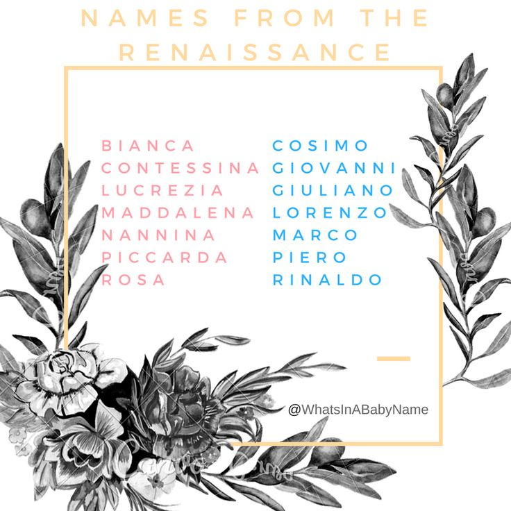 Baby Names from the Italian Renaissance || Italian Baby Names || Uncommon European Names || For More: @WhatsInABabyName on Instagram!! || #WhatsInABabyName #WhatsInAName