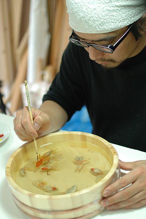 New Layered Resin Goldfish Paintings by Riusuke Fukahori - My Modern Metropolis