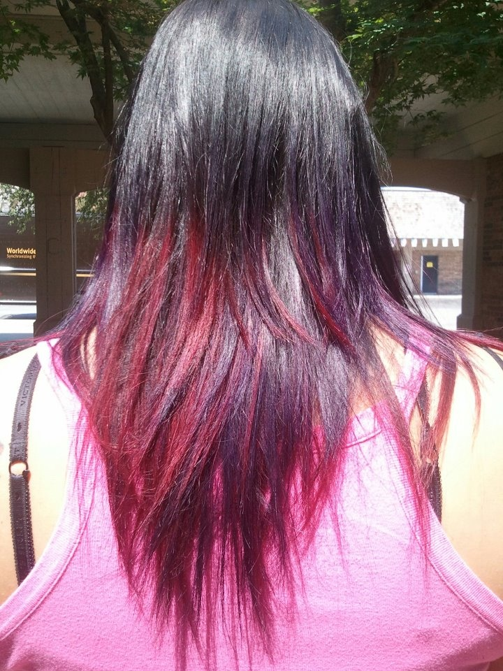 Ombre Hairstyle with R...