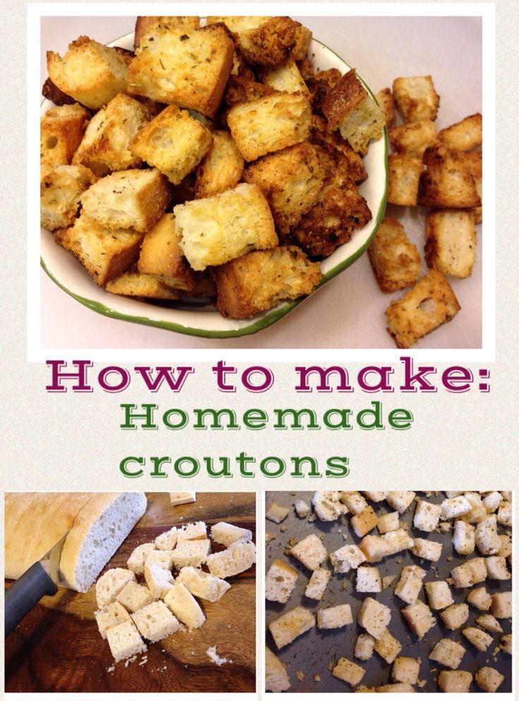 Homemade croutons, How to make homemade and Homemade on Pinterest