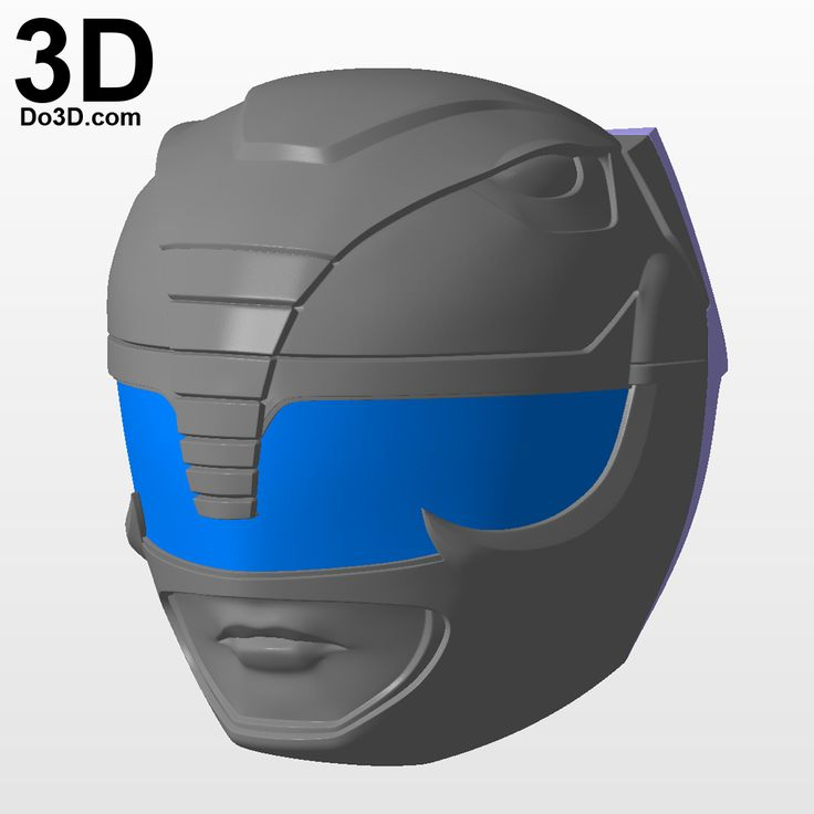 3D Printable Model: Black Ranger Classic Helmet from Mighty Morphin Power Rangers MMPR | Print File Format: STL – Do3D.com
