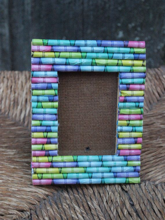 17 best images about paper craft on pinterest newspaper for Rolled magazine paper crafts