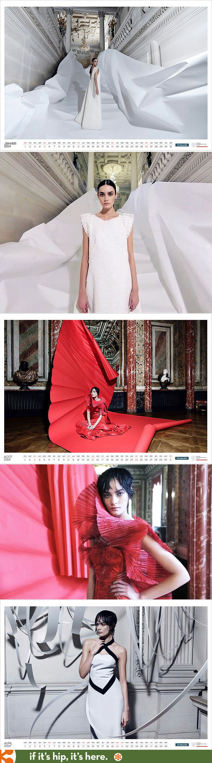 The Beautiful Polish Embassy of Paris 2014 Calendar. See the entire calendar at the link.