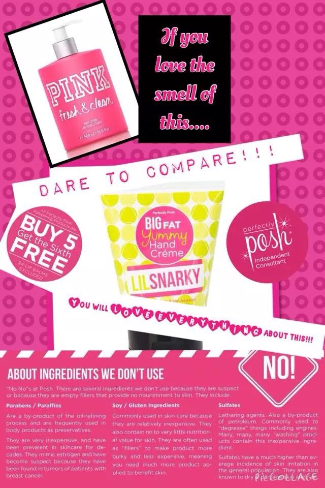 Awesome pampering products. Perfectly Posh is amazing.