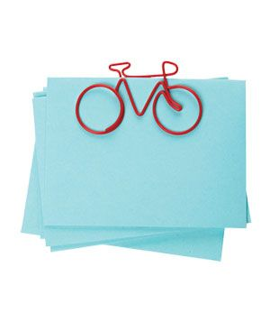 Bicycle Clips - These wire-sculpture fasteners give a stack of receipts a more carefree spin. $5 for four, @spoonsisters.com.