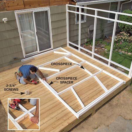 120 best images about sanctuary backyard deck arbour on for Enclosed deck plans