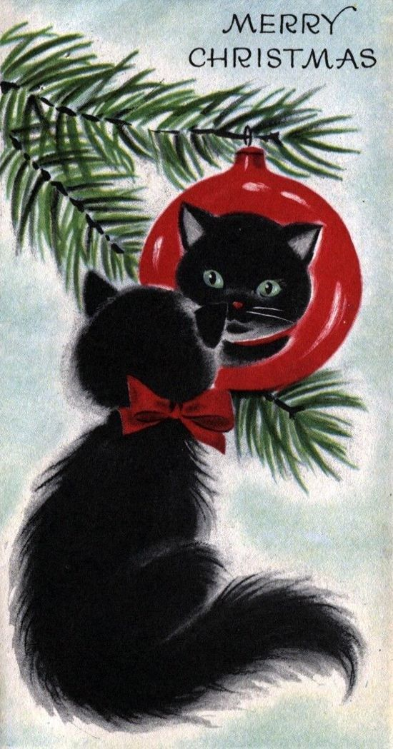 16 Vintage Christmas Cards With Kittens That Will Get You