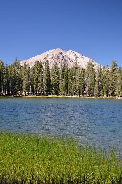 Lassen Peak and Summit Lake, Lassen Volcanic National Park, Shasta, California