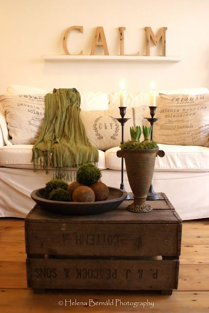 crateDecor, Coffe Tables, Crate Coffee Tables, Living Rooms, Crates Tables, Crates Coffee Tables, Sitting Room, Old Crates, Wooden Crates